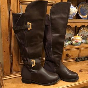 Ashley Stewart over the knee Wide calf boots